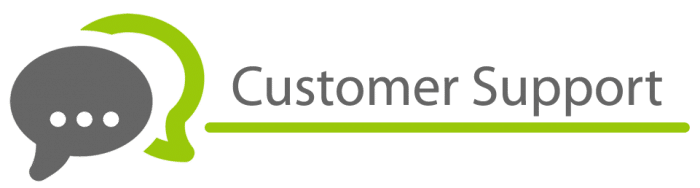 Customer support review banner