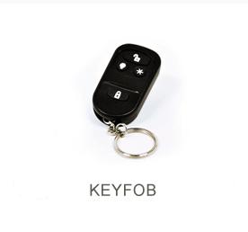 Black four button remote