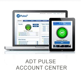 Laptop and iPad displaying ADT Pulse account center