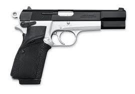 Black and silver pistol