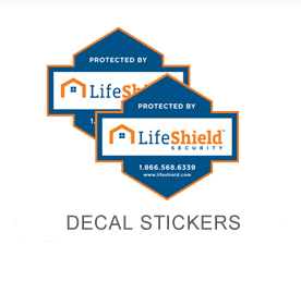 Lifeshield Security Sticker decals for windows