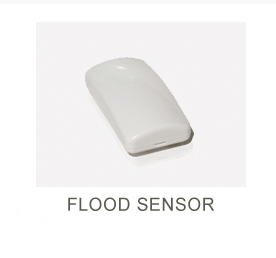 White Wireless flood sensor