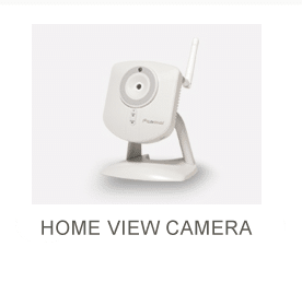 White Security Camera for Home with antennae