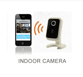 iphone displaying camera feed from security camera