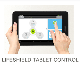 Fingers touching app on a tablet