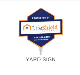 LifeShield's Home Security Yard Defense sign