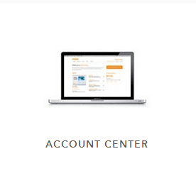 Laptop displaying Vivint's account center
