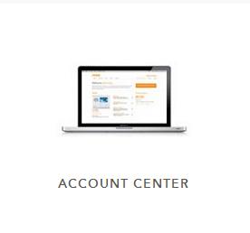 Laptop displaying Vivint's account center