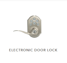 6 button electronic door handle with key lock