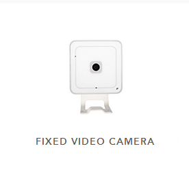 Modern square security camera