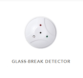 White circular glass break sensor