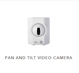 White pan and tilt security camera rolling ball in middle
