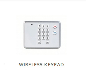 Backup keypad with 14 numbers and fire and police buttons