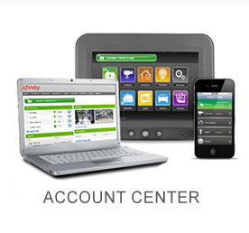 Xfinity Laptop and smartphone showing account center