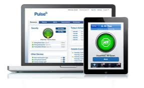 Laptop and iPad running ADT Pulse app