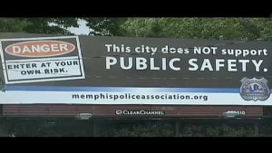 Memphis warning billboard