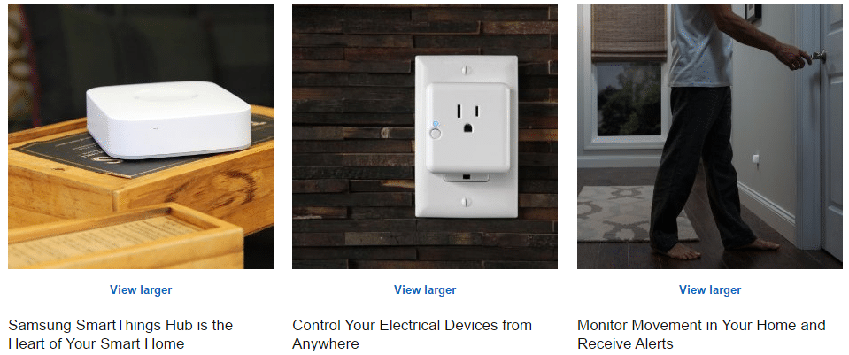 SmartThings Features