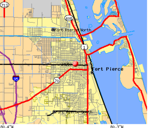 fort pierce FL map
