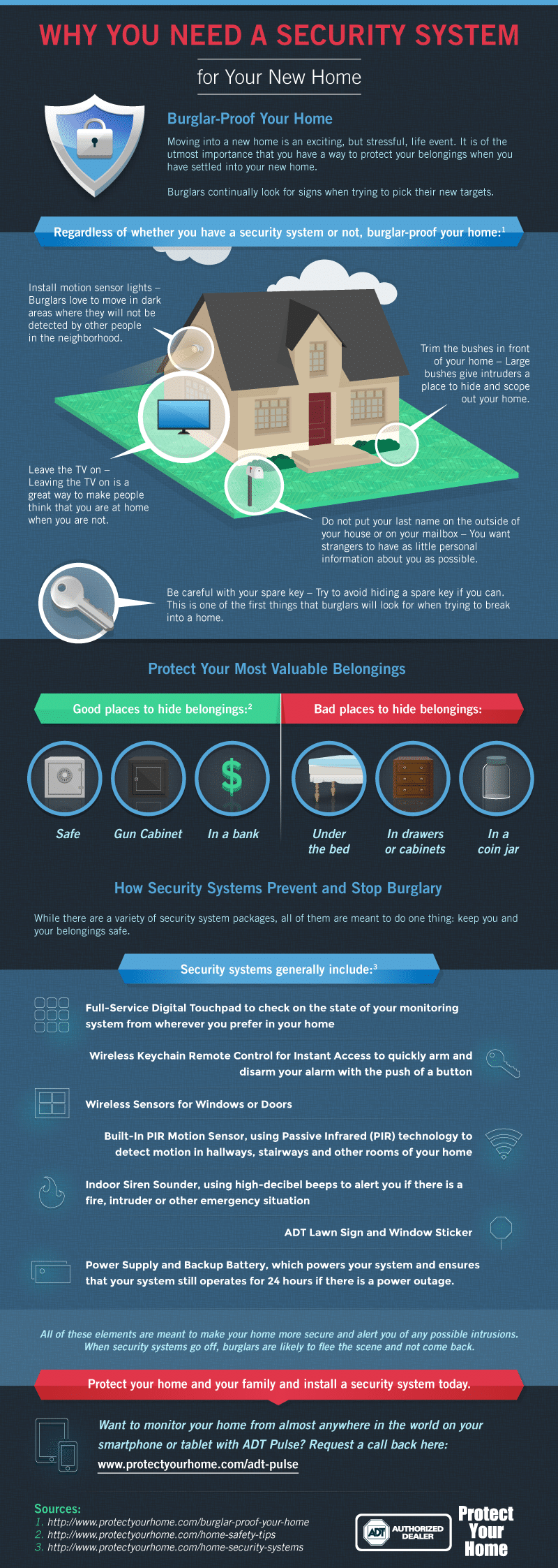 infographic on why you need a home security system