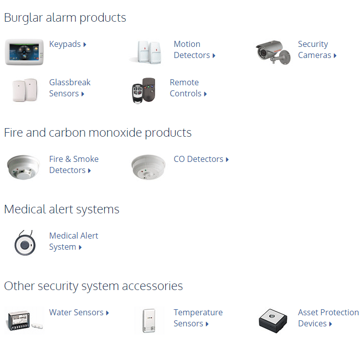 Ackerman burglar alarm products
