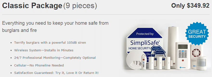 simplisafe classic package