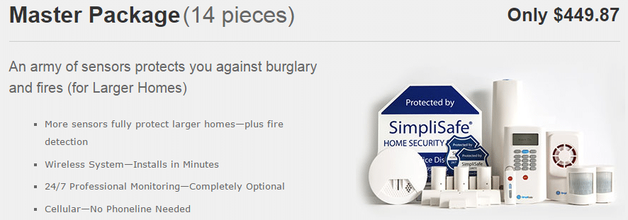 simplisafe master package