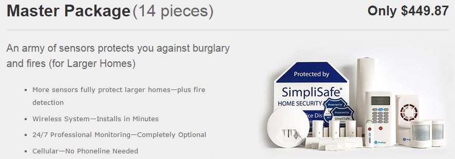 simplisafe master package