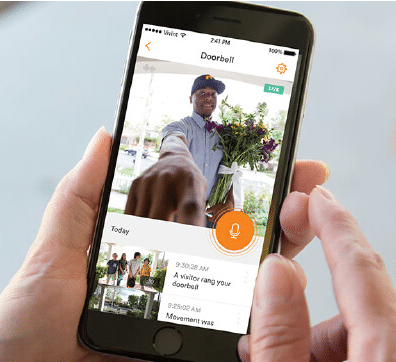mailman seen on vivint doorbell app