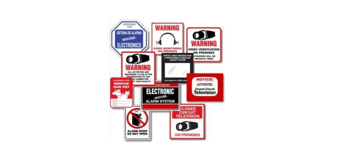 Do Fake Security Signs or Stickers Fool Anyone?