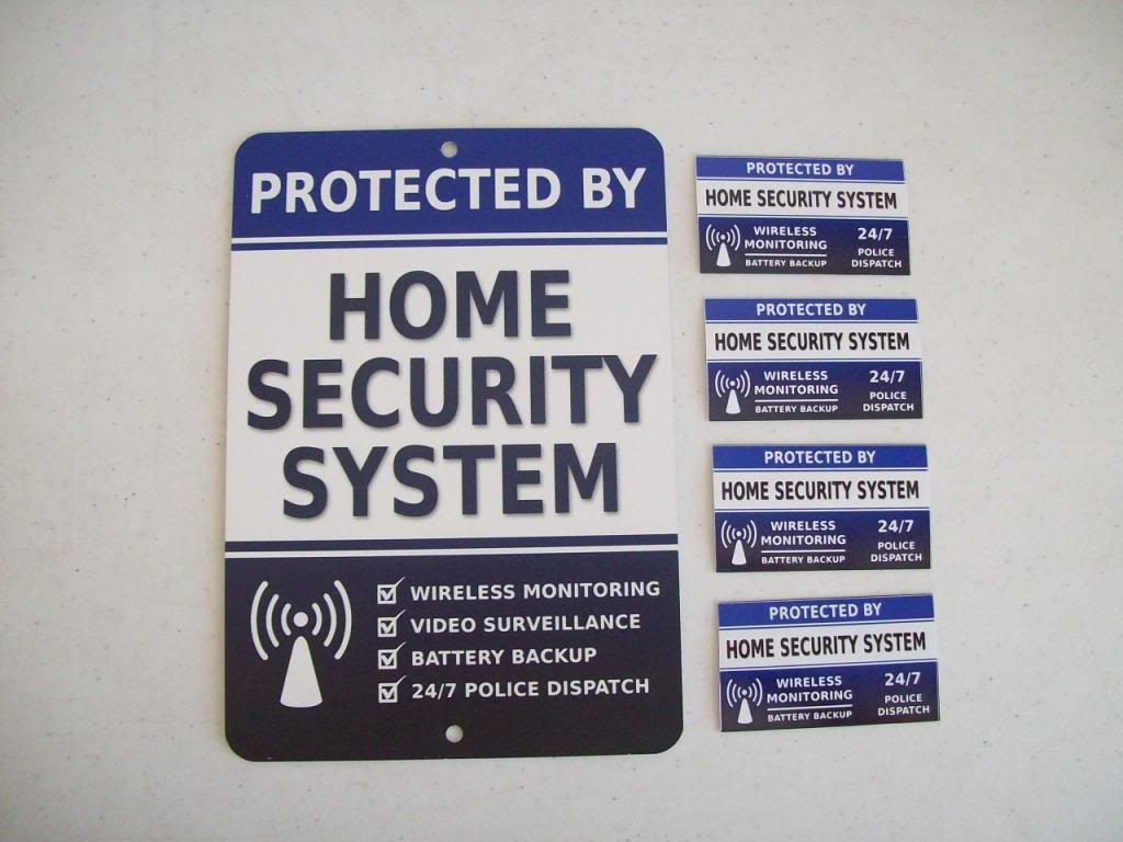 Do Fake Security Signs Or Stickers Fool Anyone - Window decals for home security