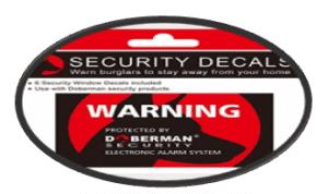 fake warning security decal