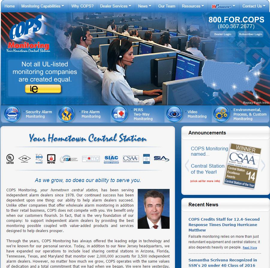cops-website-screenshot