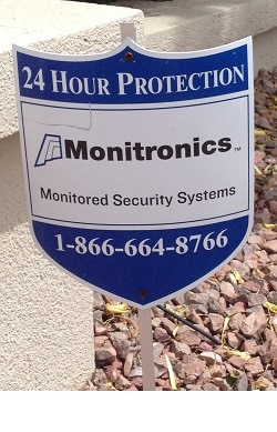 Monitroincs yard sign