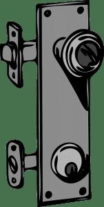 vector illustration of a door knob with deadbolt lock