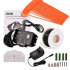 Advanced High Performance Electronic Dog Fence System Wireless Pet Containment System with Radio