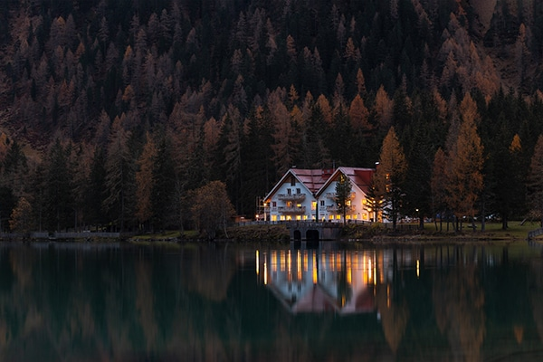 house in isolated area